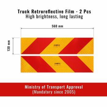 Pannelli Prismatici Riflettenti in Pellicola per Autocarro Dimensioni
