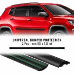 Profili protettivi paraurti auto neri 50 mm x 1,8 mt