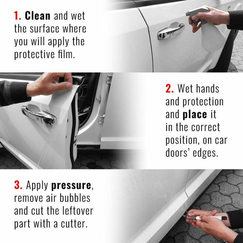 Salvaporta Adesivi per Auto Scudo Bump Door Spiegazione per la corretta applicazione
