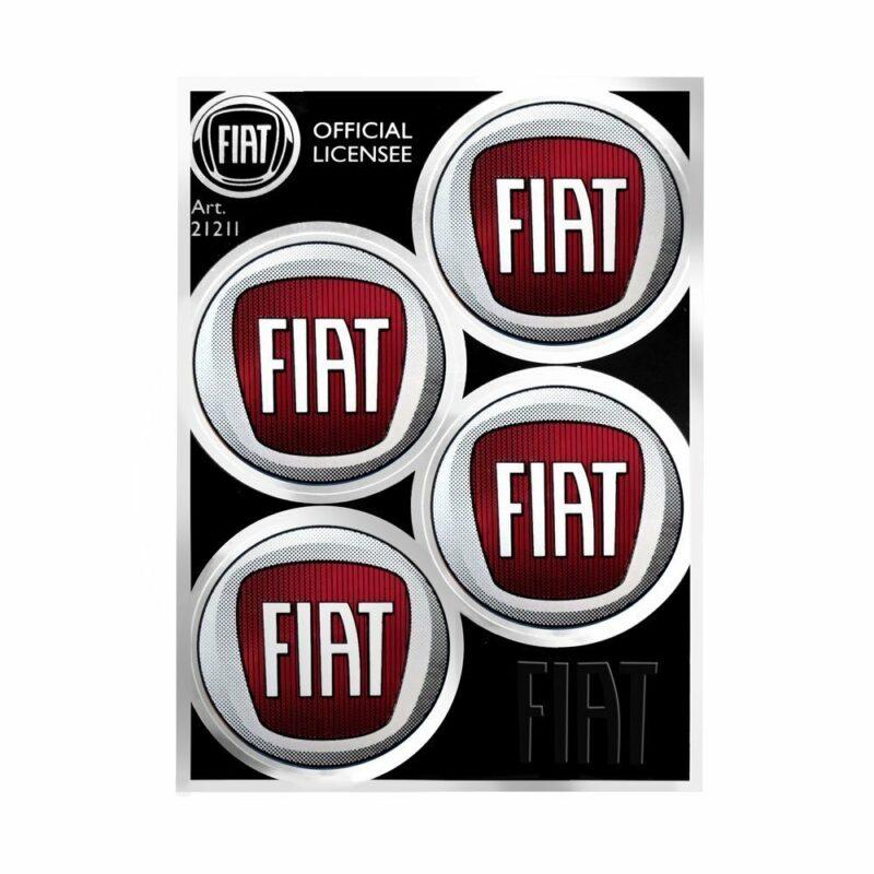 Tabella di adesivi Fiat 4 loghi a colori