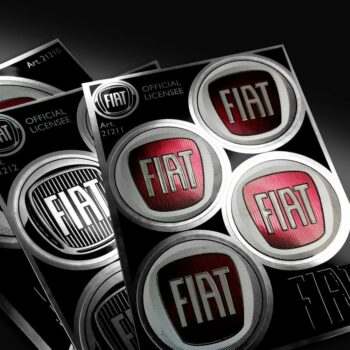 Tabella di adesivi Fiat dettaglio