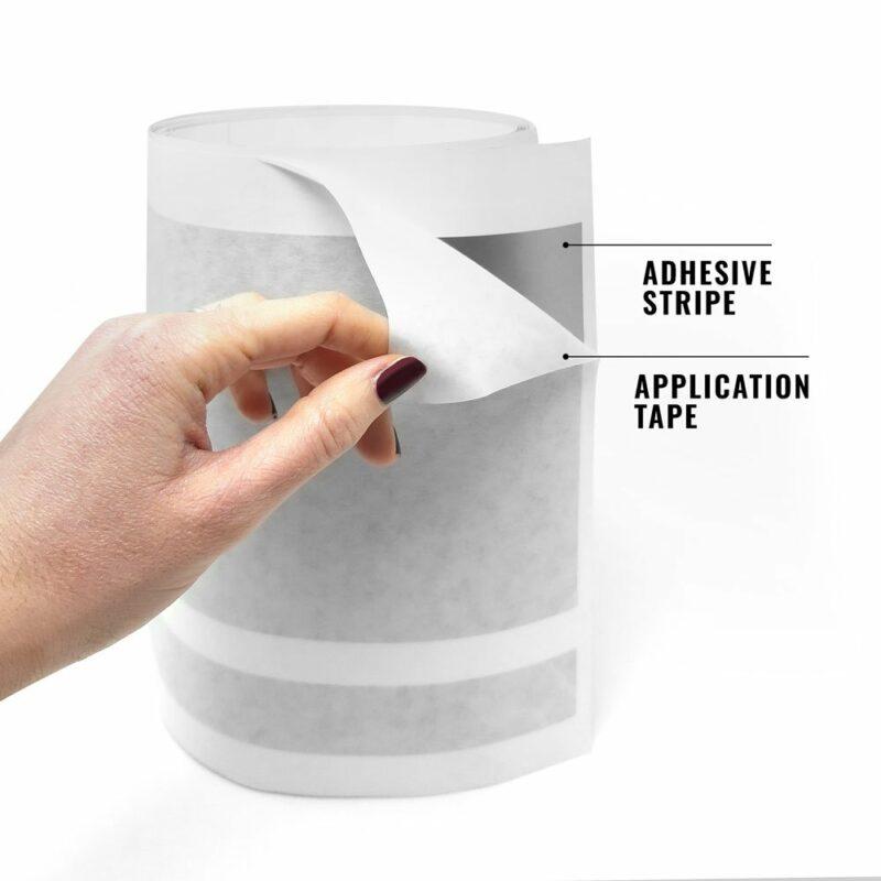 Strisce adesive per auto 2 fili dettaglio application tape