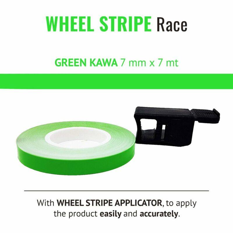 Wheel Stripe Race 7 mm con Applicatore Verde Kawa