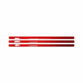 Stripe 3D Rifrangenti Rosso 3 Pz