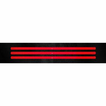 Stripe 3D Rifrangenti Rosso 3 Pz riflesso