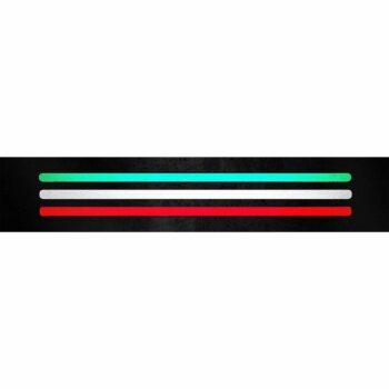 Stripe 3D Rifrangenti Tricolore Italia 3 Pz riflesso