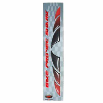Adesivi 3D Bike Protec Shark rosso metallizzato nero metallizzato