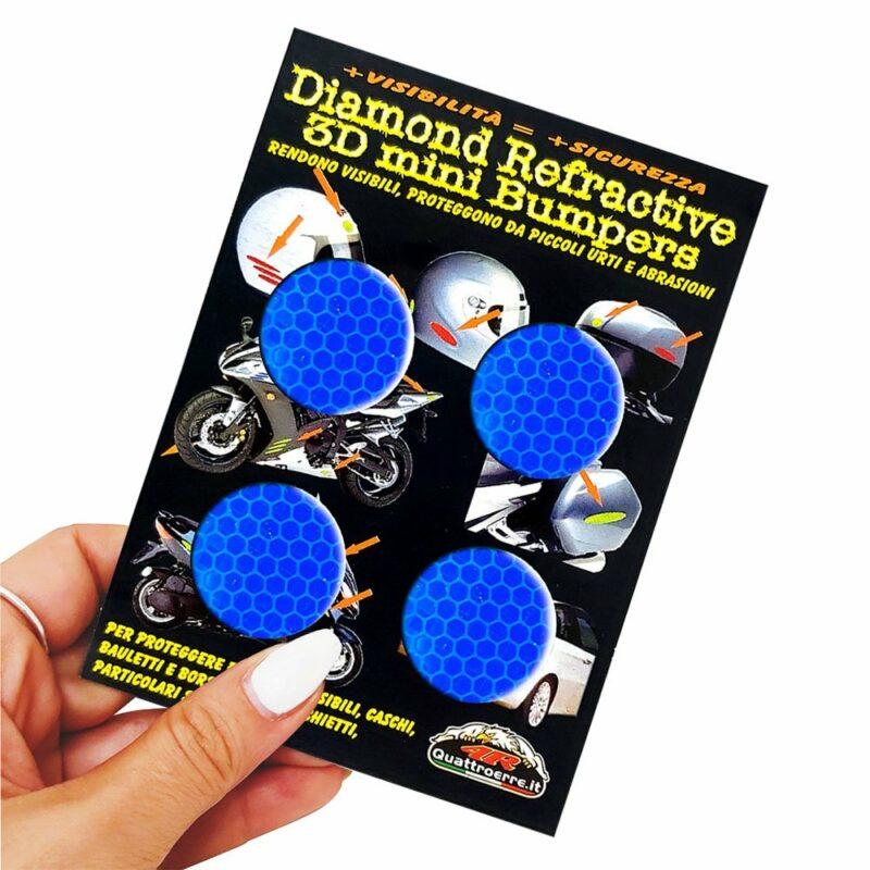 Adesivi 3D Rifrangenti Cerchi Blu