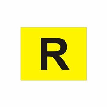 """Contrassegno """"R"""" Rifiuti Speciali, 300 x 400 mm"""