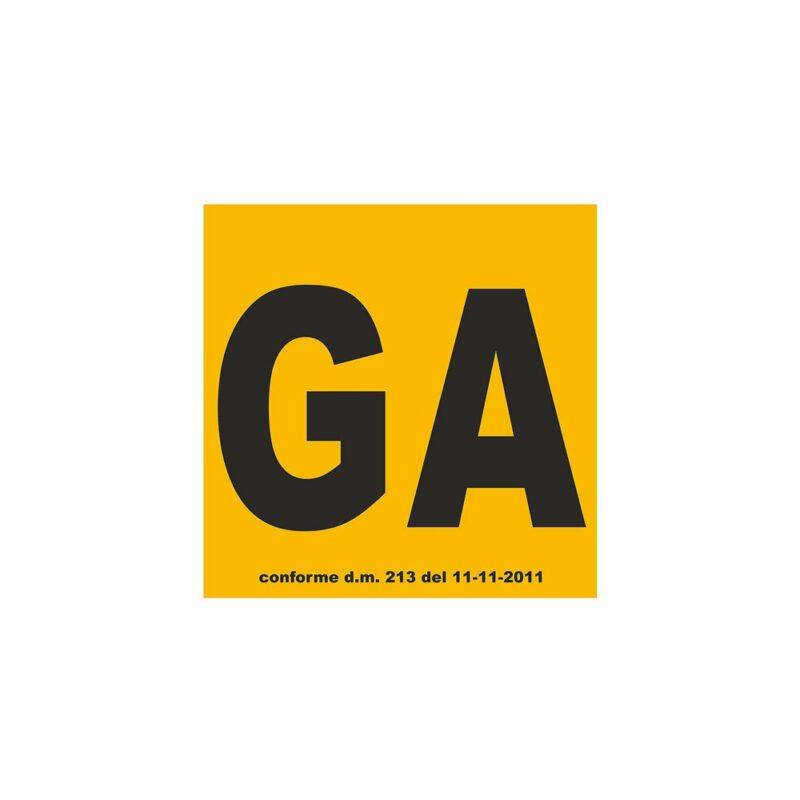 """Contrassegno """"Ga"""" Guida Accompagnata, Set di 2 pezzi"""