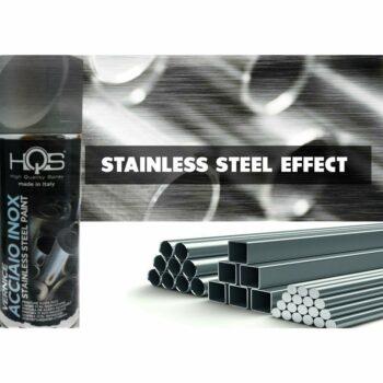Vernice Spray HQS Effetto Acciaio Inox 400 ml applicazione