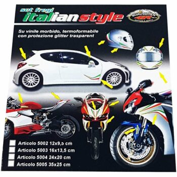 Kit Decorazioni Fregi Tricolore Italia per Moto cartoncino