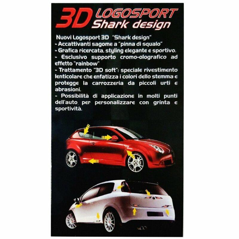 Adesivo 3D Logosport cartoncino