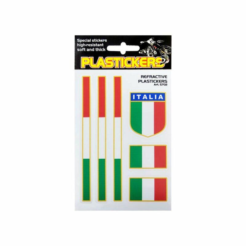 Adesivo Rifrangente Set Bandiere Italia 2