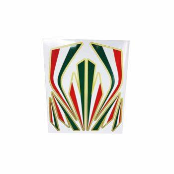 Adesivi Componibili Set Fregi Tricolore Italia, Medio