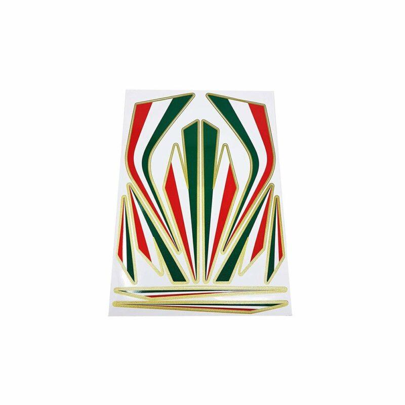 Adesivi Componibili Set Fregi Tricolore Italia, Grande