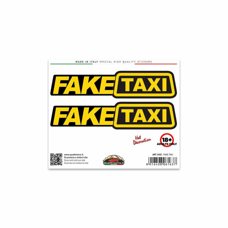 Adesivi Stickers Standard Fake Taxi 10 x 12 cm