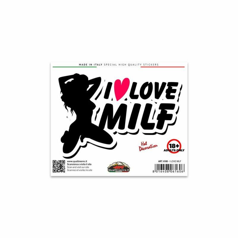 Adesivi Stickers Standard I Love Milf 10 x 12 cm