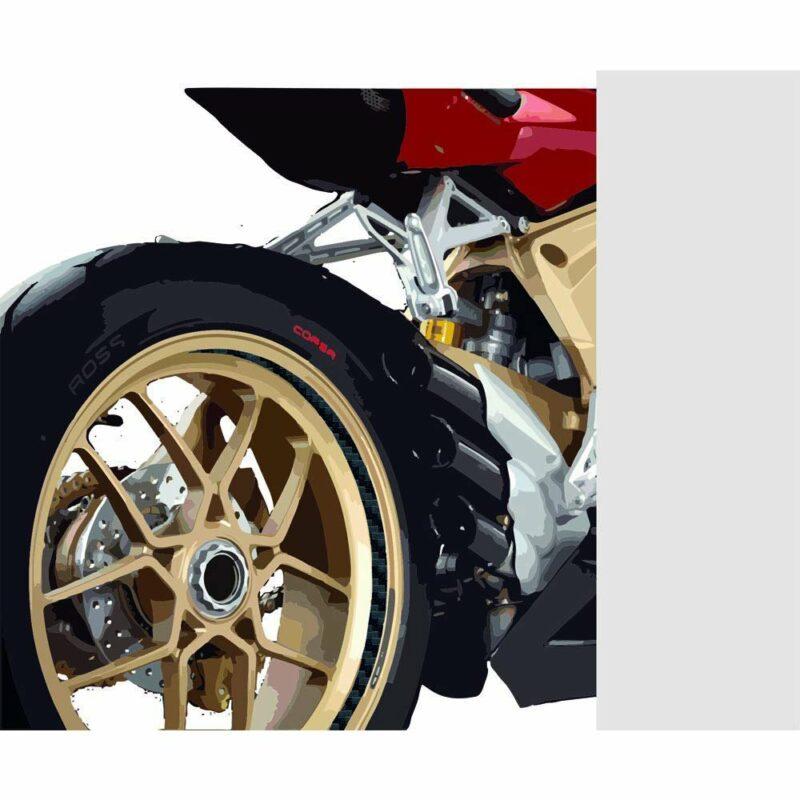 Stripes Strisce Adesive per Auto Carbonio 10 mm x 6 mt applicazione