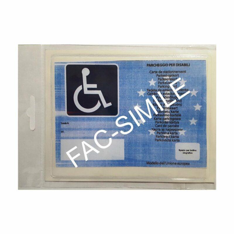 Tasca Porta Contrassegno Parcheggio Disabili