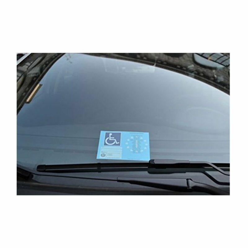 Tasca Porta Contrassegno Parcheggio Disabili applicazione