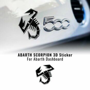 Abarth adesivo ufficiale cruscotto scorpione nero
