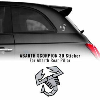 Abarth adesivo ufficiale montante scorpione argento