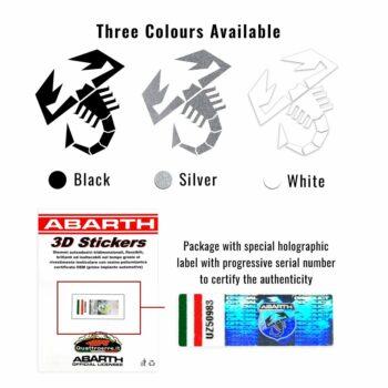 Abarth adesivo ufficiale montante varianti cromatiche