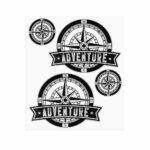 Adesivi Adventure Stickers per Bauletti Moto Rosa dei Venti 2