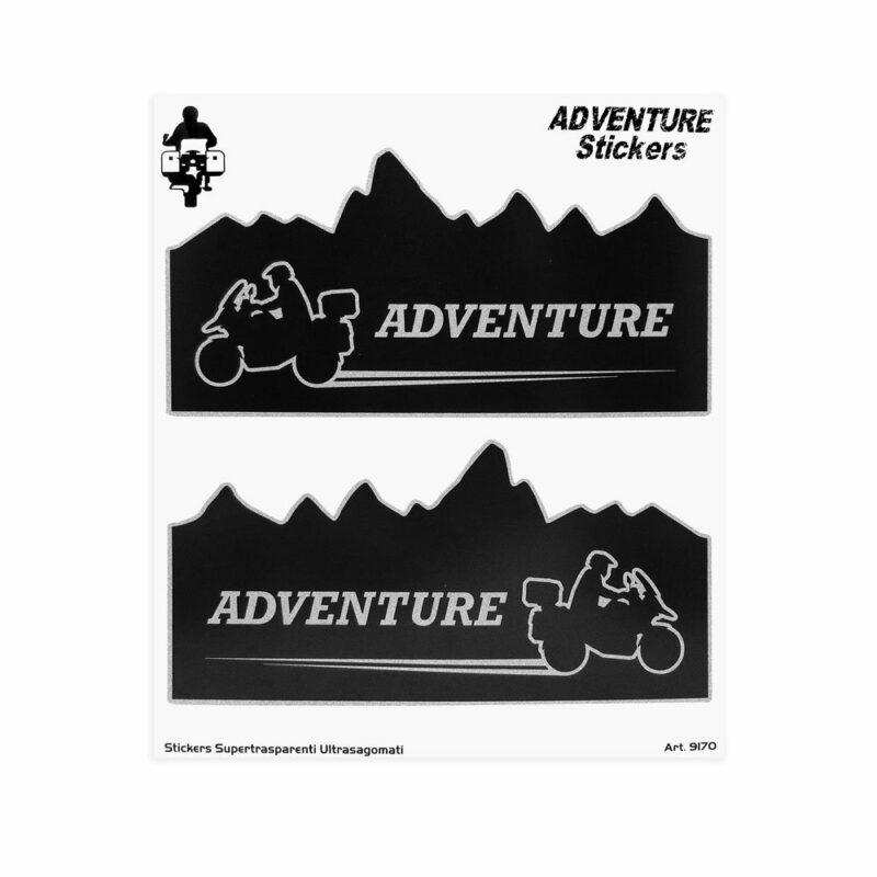 Adesivi Adventure Stickers per Bauletti Moto Adventure Mountain