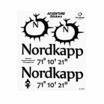 Adesivi Adventure Stickers per Bauletti Moto Nordkapp