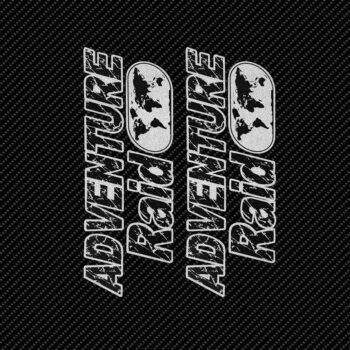 Adesivi Adventure Stickers per Bauletti Moto Adventure Raid sfondo nero