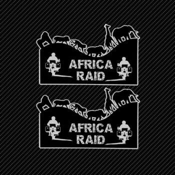 Adesivi Adventure Stickers per Bauletti Moto Africa Raid sfondo nero