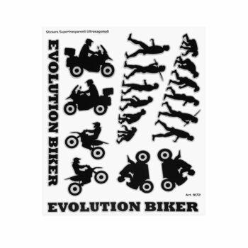 Adesivi Adventure Stickers per Bauletti Moto Evolution Biker