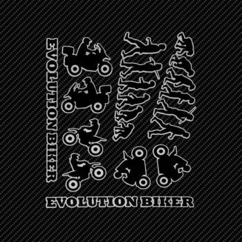 Adesivi Adventure Stickers per Bauletti Moto Evolution Biker sfondo nero