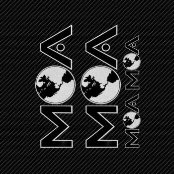 Adesivi Adventure Stickers per Bauletti Moto MOA sfondo nero