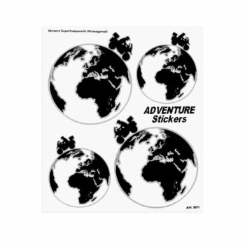 Adesivi Adventure Stickers per Bauletti Moto Adventure World