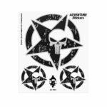 Adesivi Adventure Stickers per Bauletti Moto Stella USA Teschio
