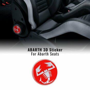 Adesivo sedili abarth 3d scorpione 60 mm