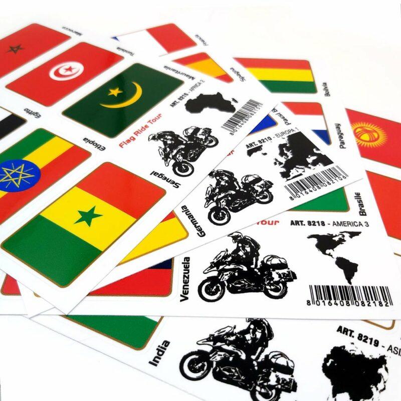 Adesivi Bandiere Flag Ride Tour per Bauletti Moto gamma prodotti