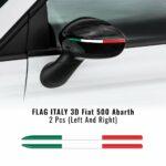 Bandierina 3D tricolore Italia per specchietti Fiat 500 Abarth