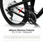 Protezione adesiva batticatena per bicicletta trasparente