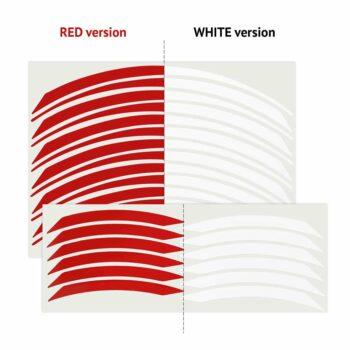 Wheel Rim Kit Componibile Racing 24 pz bianco e rosso