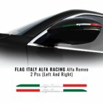 Bandierine adesive olografiche tricolore Italia 2 pezzi