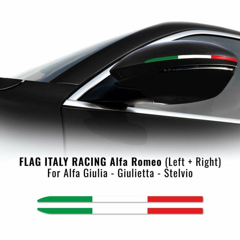 Bandierine adesive tricolore Italia 2 pezzi