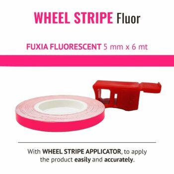 Wheel Stripe Fluo 5 mm con Applicatore FUXIA