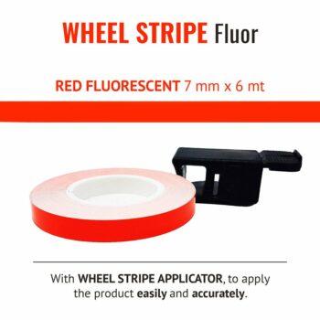 Wheel Stripe Fluo 7 mm con Applicatore rosso