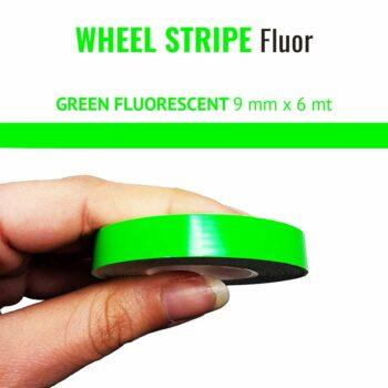 Wheel Stripe Fluo 9 mm verde