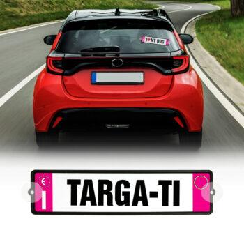 kit targa auto personalizzabile