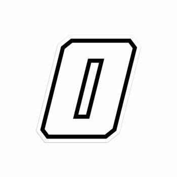 Numero zero Race Moto GP bianco